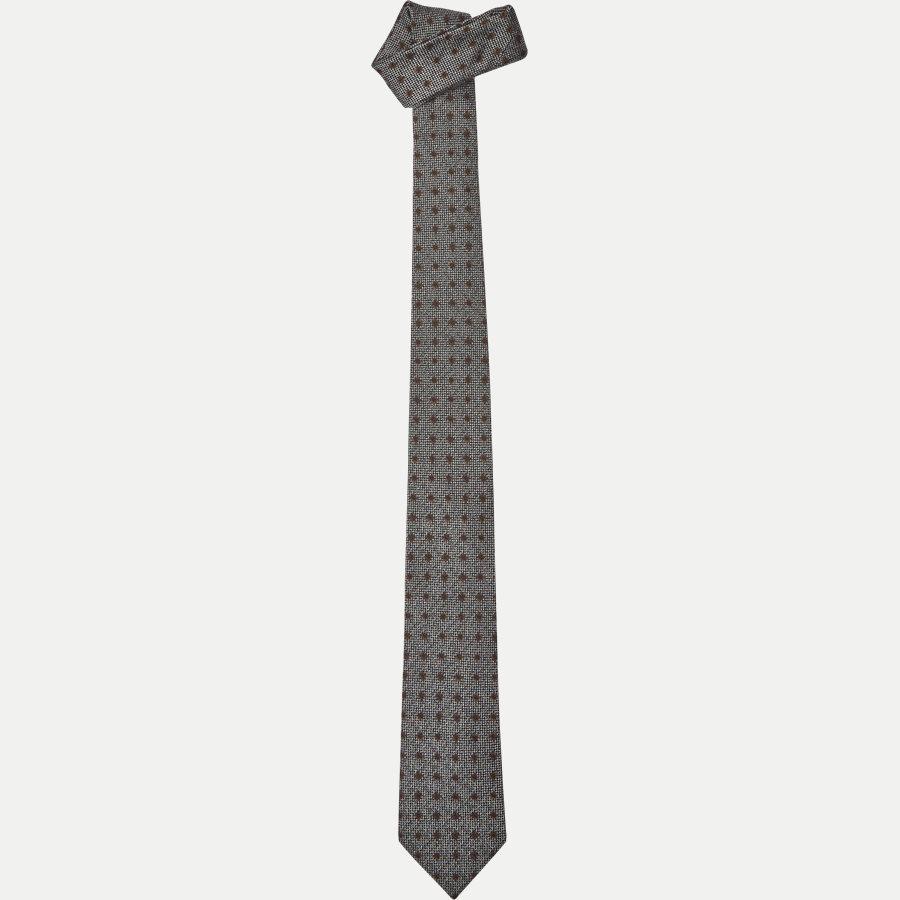 9111CR - Krawatten - GRÅ / BRUN - 1